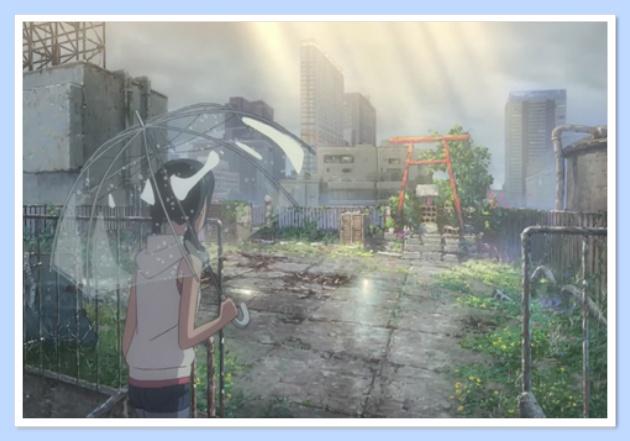 『天気の子』屋上の鳥居の場所は?気象神社の行き方や画像も!